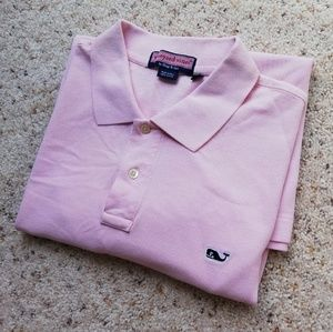 VINEYARD VINES men XL pink polo shirt